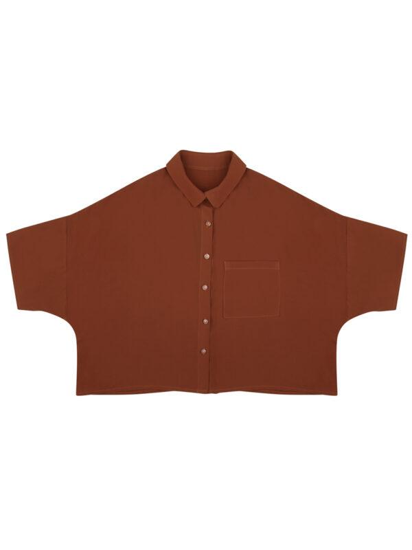 Oversize el yapımı kadın gömleği